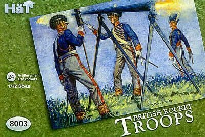 HaT 1/72 Napoleonic British Rocket Troops # 8003