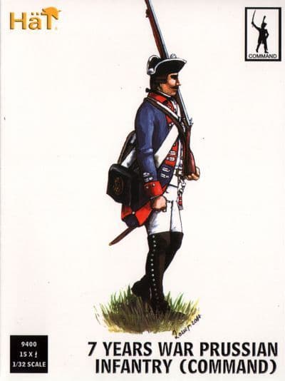 Hat 1/32 7 Years War Prussian Infantry (Command) # 9400