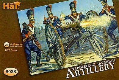 Hat 1/72 Napoleonic Bavarian Artillery # 8038