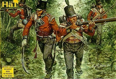 Hat 1/72 Napoleonic British Light Infantry # 8036