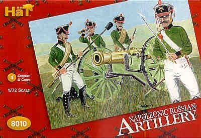 Hat 1/72 Napoleonic Russian Artillery # 8010