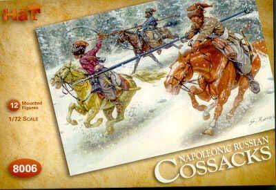 Hat 1/72 Napoleonic Russian Cossacks # 8006