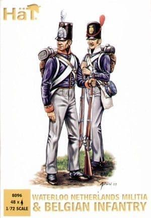 Hat 1/72 Royal Netherlands Militia and Belgian Infantry # 8096