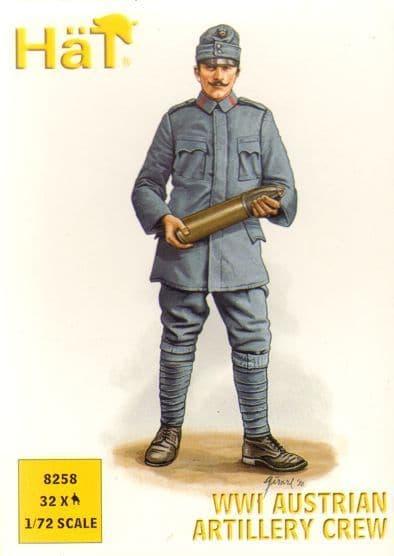 Hat 1/72 WWI Austrian Artillery Crew # 8258