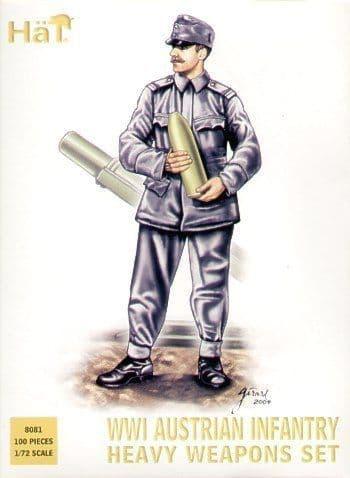 Hat 1/72 WWI Austrian Infantry Heavy Weapons Set # 8081