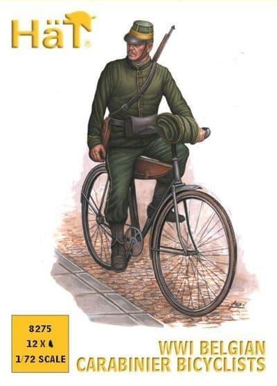Hat 1/72 WWI Belgian Carabinier Bicyclists # 8275