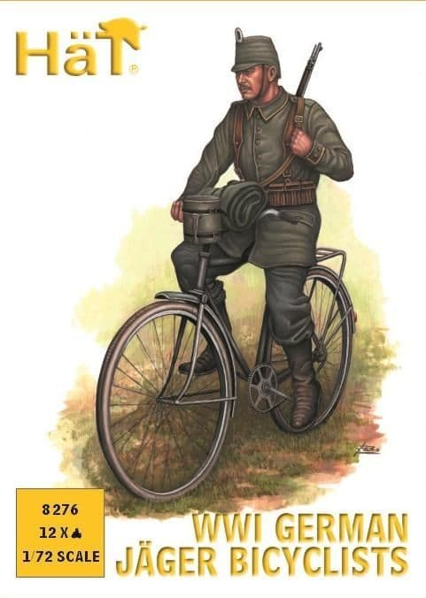 Hat 1/72 WWI German Jager Bicyclists # 8276
