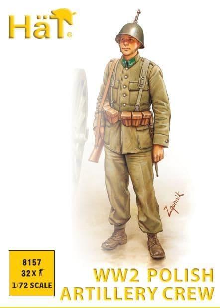 Hat 1/72 WWII Polish Artillery Crew # 8157