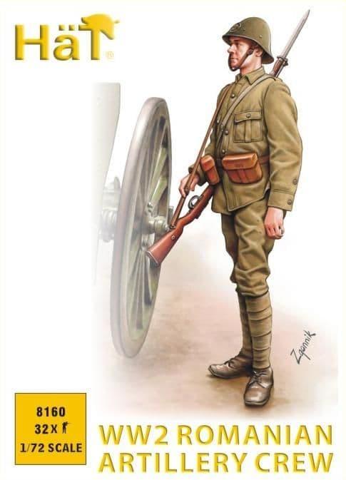 Hat 1/72 WWII Romanian Artillery Crew # 8160