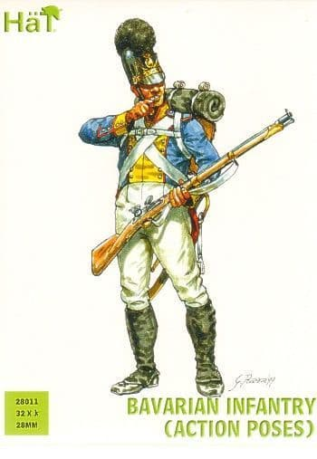 Hat 28mm Bavarian Infantry (Action Poses) # 28011