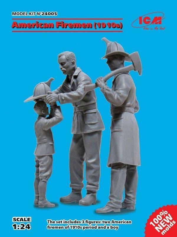 ICM 1/24 American Firemen (1910s) # 24005
