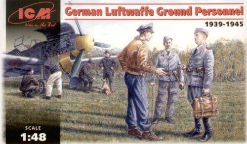 ICM 1/48 German Luftwaffe Ground Personnel 1939-1945 # 48085