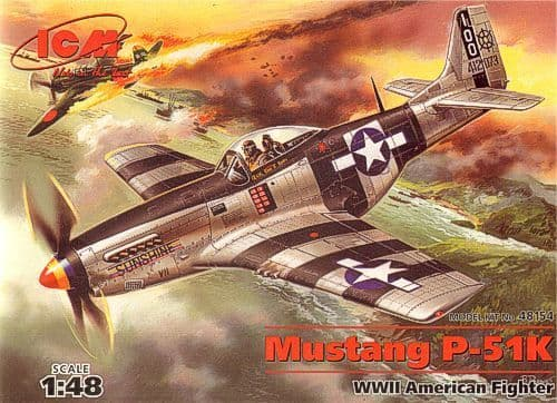 ICM 1/48 Mustang P-51 K American Fighter WWII # 48154