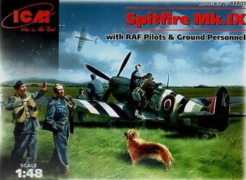 ICM 1/48 Spitfire Mk.IX with RAF Personnel # 48801