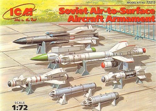 ICM 1/72 Soviet Air to Surface Aircraft Armament # 72213