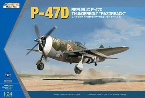 Kinetic 1/24 P-47D Thunderbolt Razorback # 3208