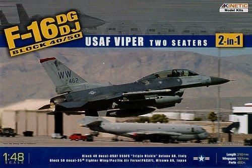 Kinetic 1/48 F-16DG/DJ Block 40/50 USAF Viper # 48005