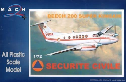 Mach 2 1/72 Beech 200 Super Kingair Securite Civil # 7299