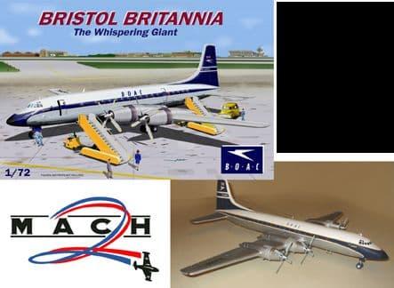 Mach 2 1/72 Bristol Britannia The Whispering Giant BOAC Version # GP086