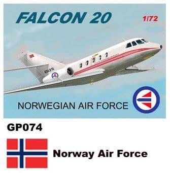 Mach 2 1/72 Dassault-Mystere Falcon 20 # GP074