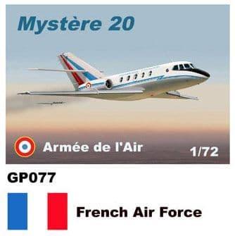 Mach 2 1/72 Dassault-Mystere Falcon 20 # GP077