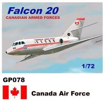 Mach 2 1/72 Dassault-Mystere Falcon 20 # GP078