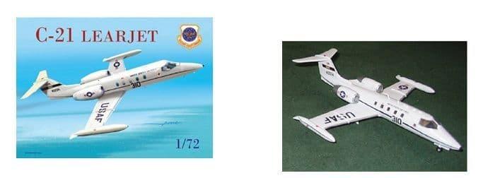 Mach 2 1/72 Gates Learjet C-21 USAF # 7257