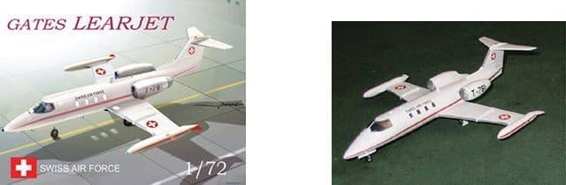 Mach 2 1/72 Gates Learjet Swiss Air Force # 7258