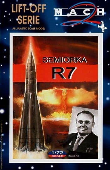 Mach 2 1/72 R-7 Semiorka Rocket # L010