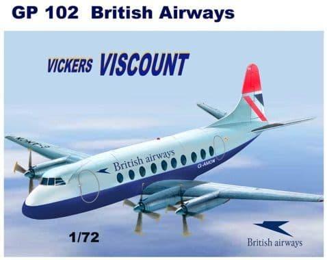 Mach 2 1/72 Vickers Viscount 700 - British Airways # GP102