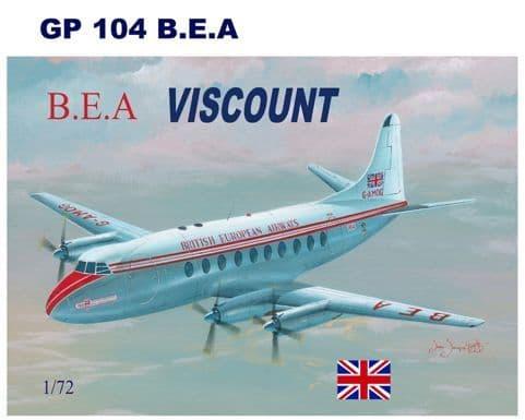 Mach 2 1/72 Vickers Viscount 700 - British European Airways # GP104