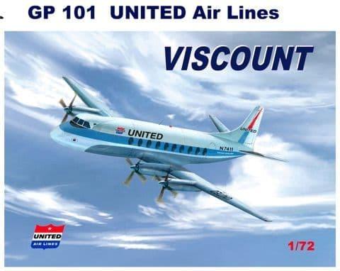 Mach 2 1/72 Vickers Viscount 700 - United Air Lines # GP101