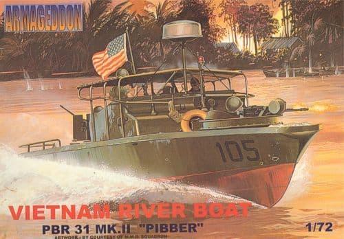"""Mach 2 Armageddon 1/72 PBR 31 Mk.II """"Pibber"""" Vietnam River Boat # AR07"""