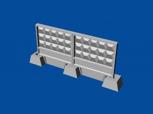 Metallic Details 1/72 Soviet Concrete Fence PO-3m # MDR7206