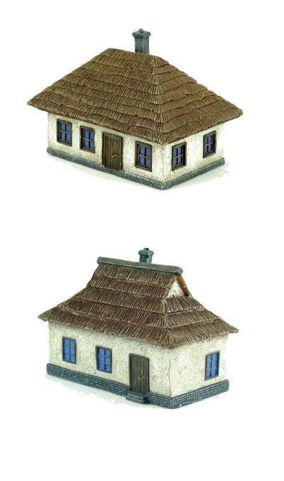 Pegasus Hobbies 1/144 Ukrainian House - 1 Large & 1 Small Pre Pa