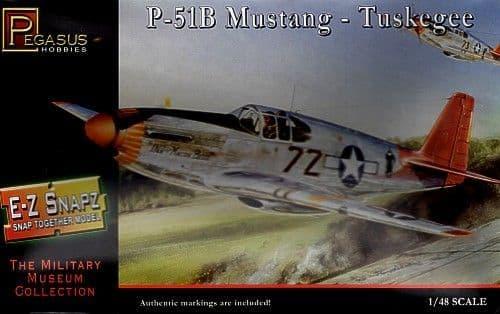 Pegasus Hobbies 1/48 P-51B Mustang - Tuskegee Snap Together Model # 8404
