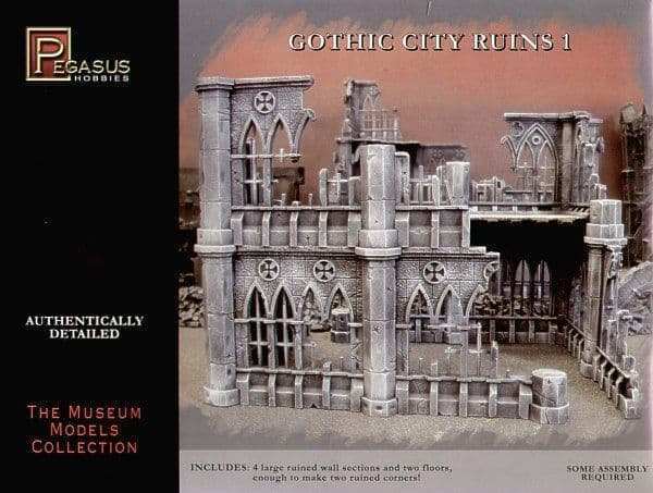 Pegasus Hobbies 28mm Gothic City Ruins 1 # 4930