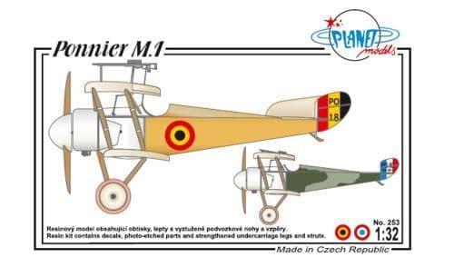 Planet 1/32 Ponnier M.1 # 253