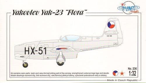 Planet 1/32 Yakovlev Yak-23 Flora # 236