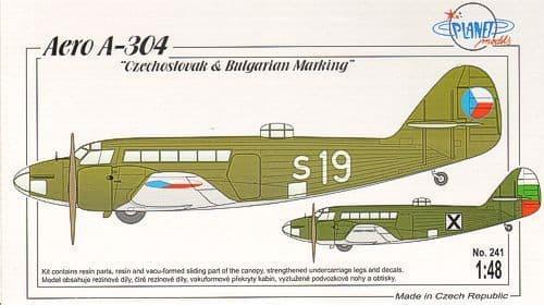 Planet 1/48 Aero A-304 Czechoslovak & Bulgarian Marking # 241