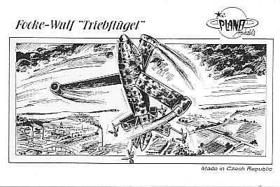 """Planet 1/48 Focke-Wulf """"Triebflugel"""" # 075"""