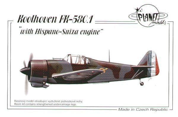 Planet 1/48 Koolhoven FK-58C.1 with Hispano Suiza Engine # 179
