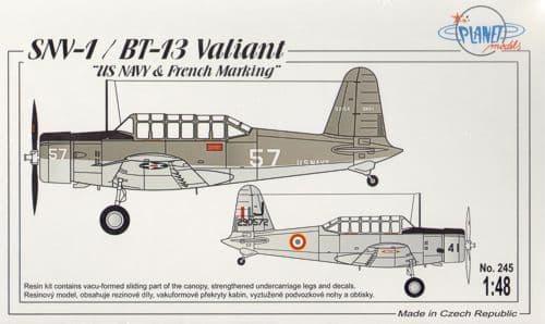 Planet 1/48 SNV-1 / BT-13 Valiant US Navy & French Marking # 245