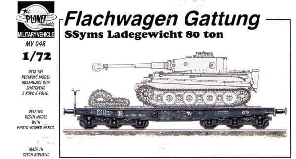 Planet 1/72 Flachwagen Gattung Ssyms Ladegewicht 80 ton  # MV048