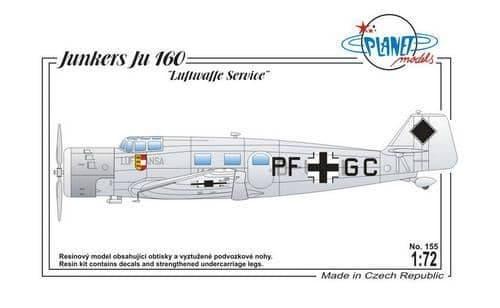 "Planet 1/72 Junkers Ju-160 ""Luftwaffe Service"" # 155"