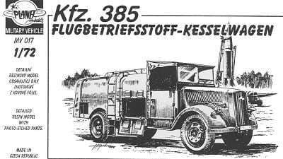 Planet 1/72 Kfz. 385 Flugbetriebstoff Kesselwagen # MV017