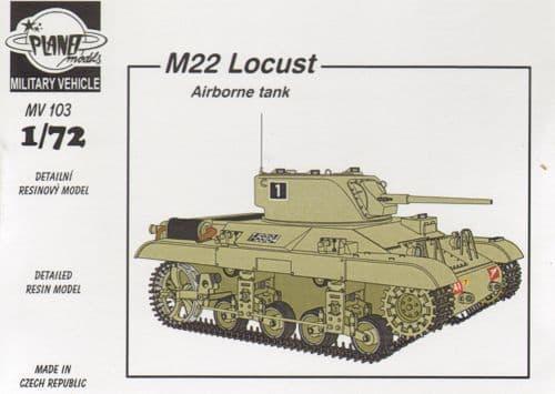 Planet 1/72 M22 Locust WWII Airborne Tank # MV103