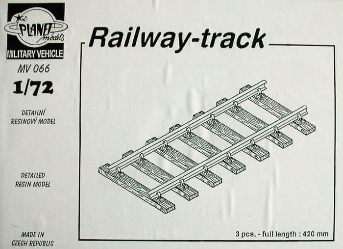Planet 1/72 Railway track 3 pieces # MV066