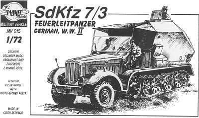 Planet 1/72 Sd.Kfz. 7/3 Feuerleitpanzer # MV015