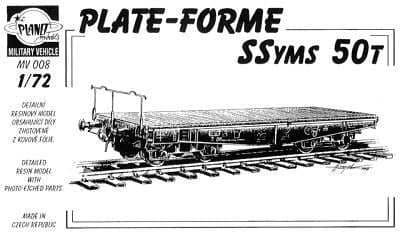 Planet 1/72 Ssyms 50 ton Platform Railway Wagon # MV008